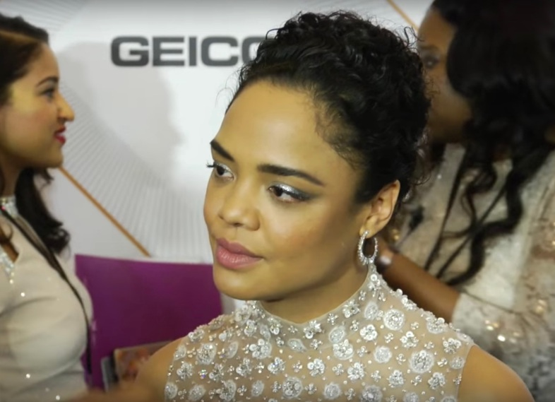 Tessa Thompson on the red carpet