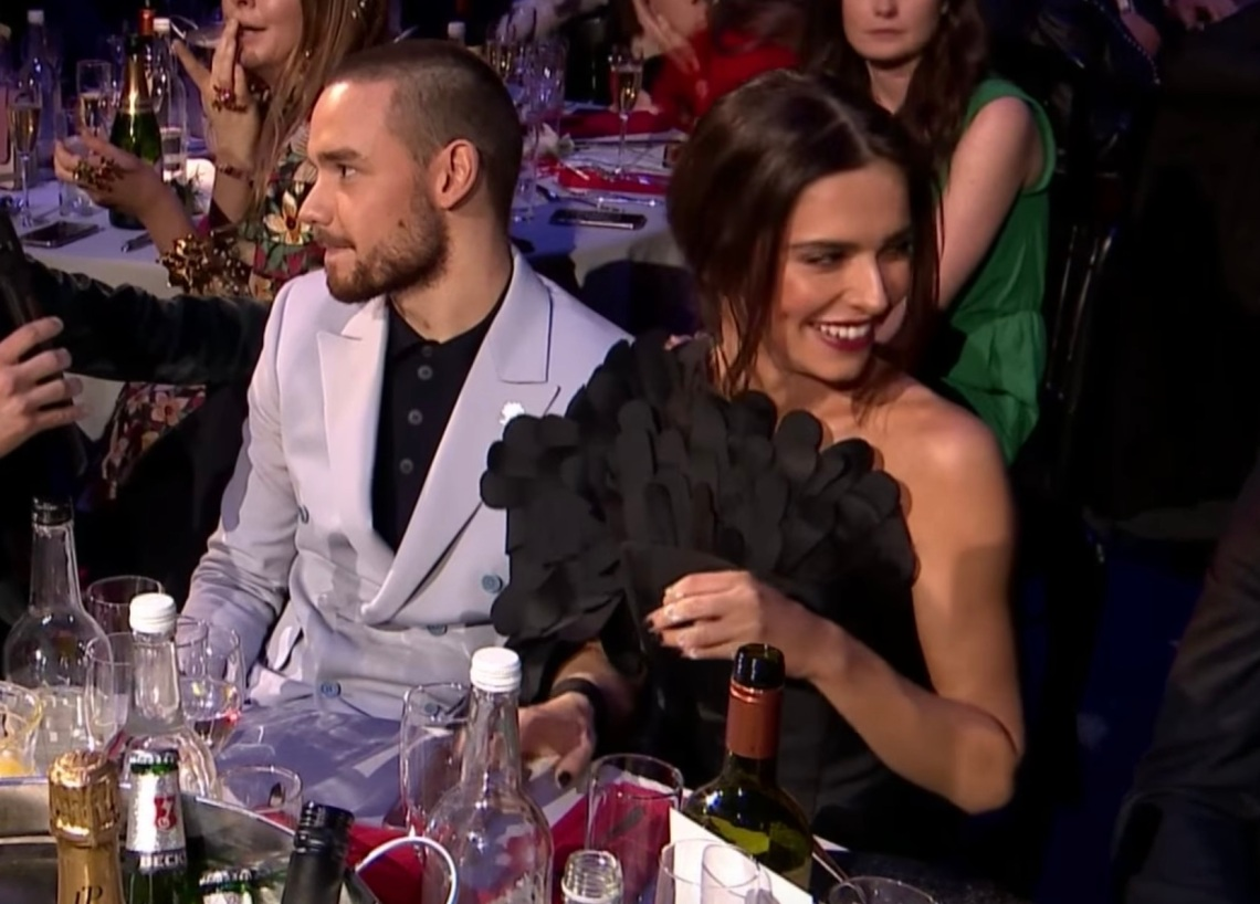 Liam Payne and Cheryl Cole at the BRITs Awards