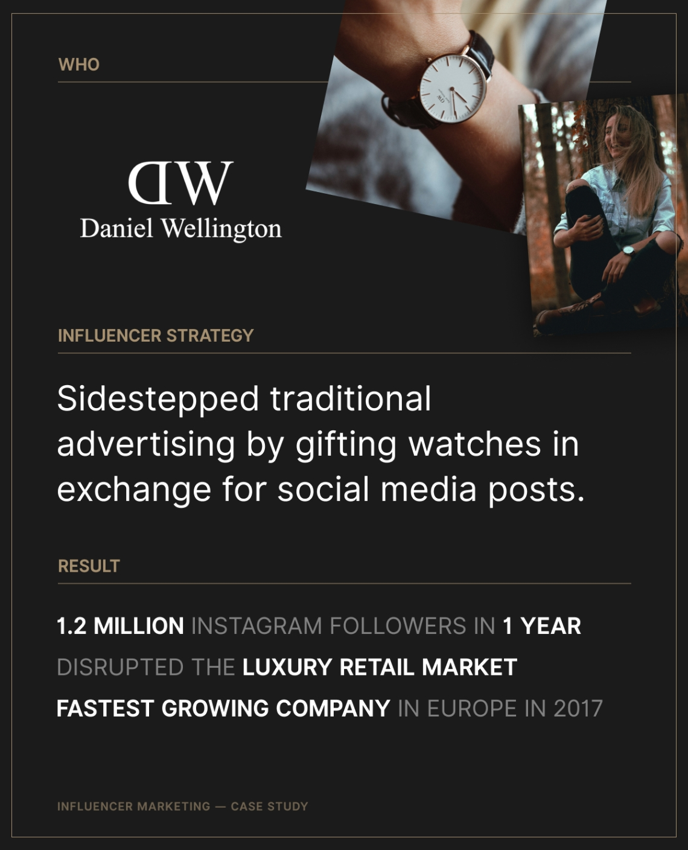 daniel wellington influencer marketing case study