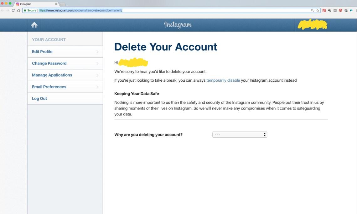 How To Delete Instagram