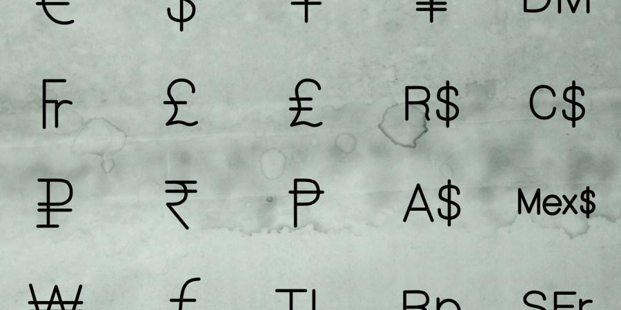 The Most Popular Money Symbols Around The World