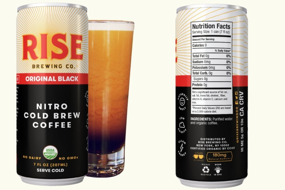 Rise canned cold brew coffee.