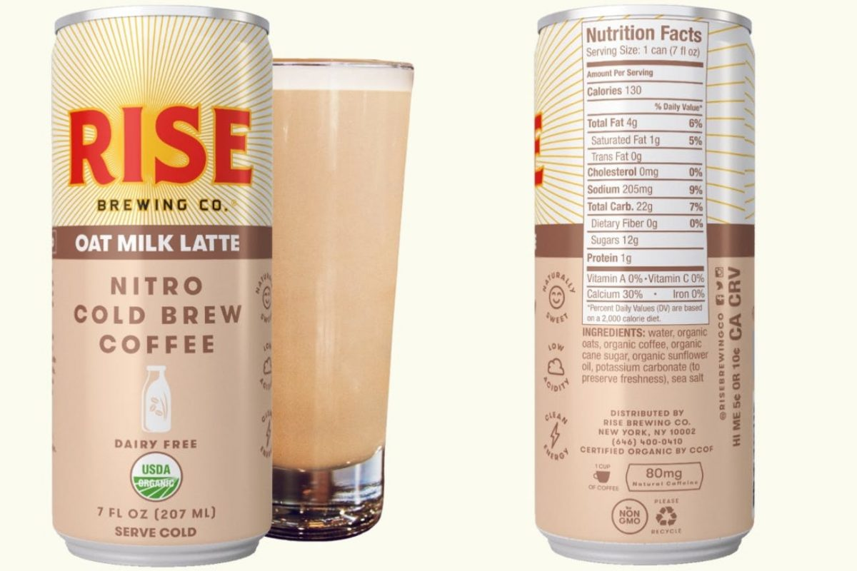 Reise Brewing Co. Canned Cold Brew Coffee.