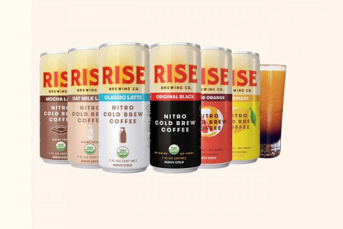 Rise Brewing Co. canned cold brew coffee.