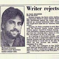A Writer's Diary Entries From Early April, 1986