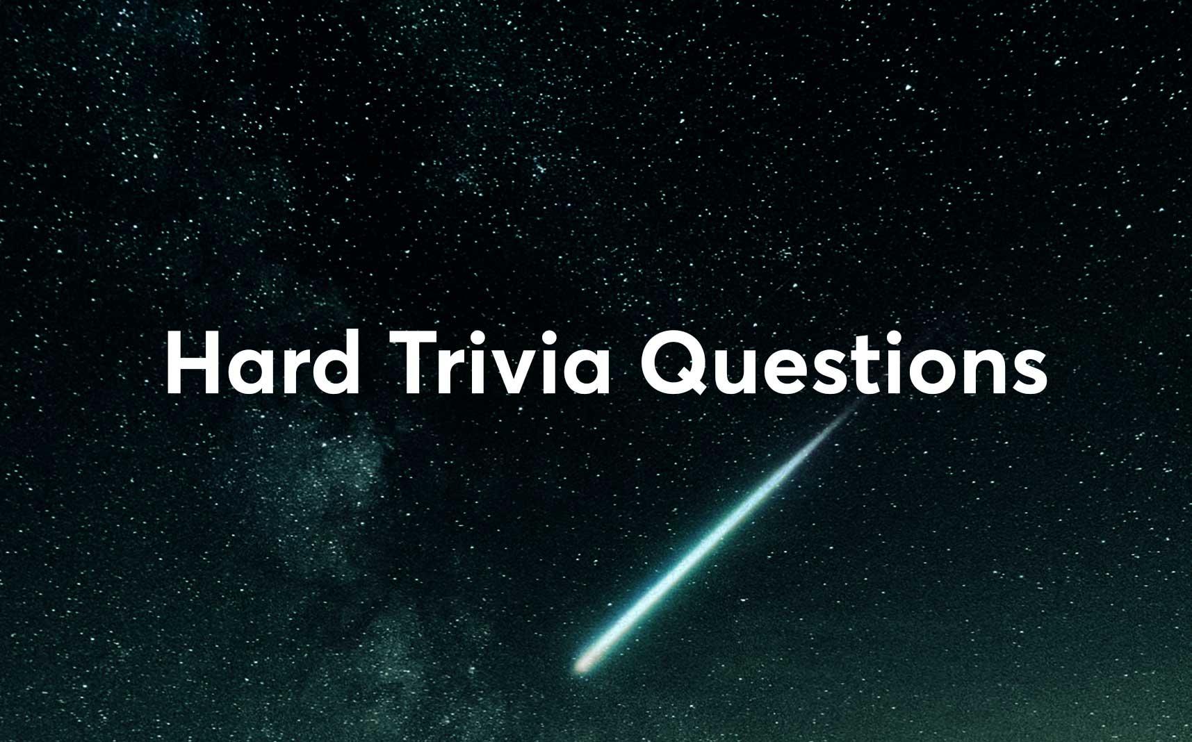 hard trivia questions