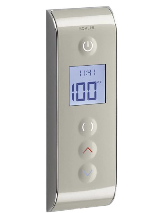 KOHLER K-527-1SN DTV Prompt Digital Shower Interface, Satin Nickel with Polished Nickel