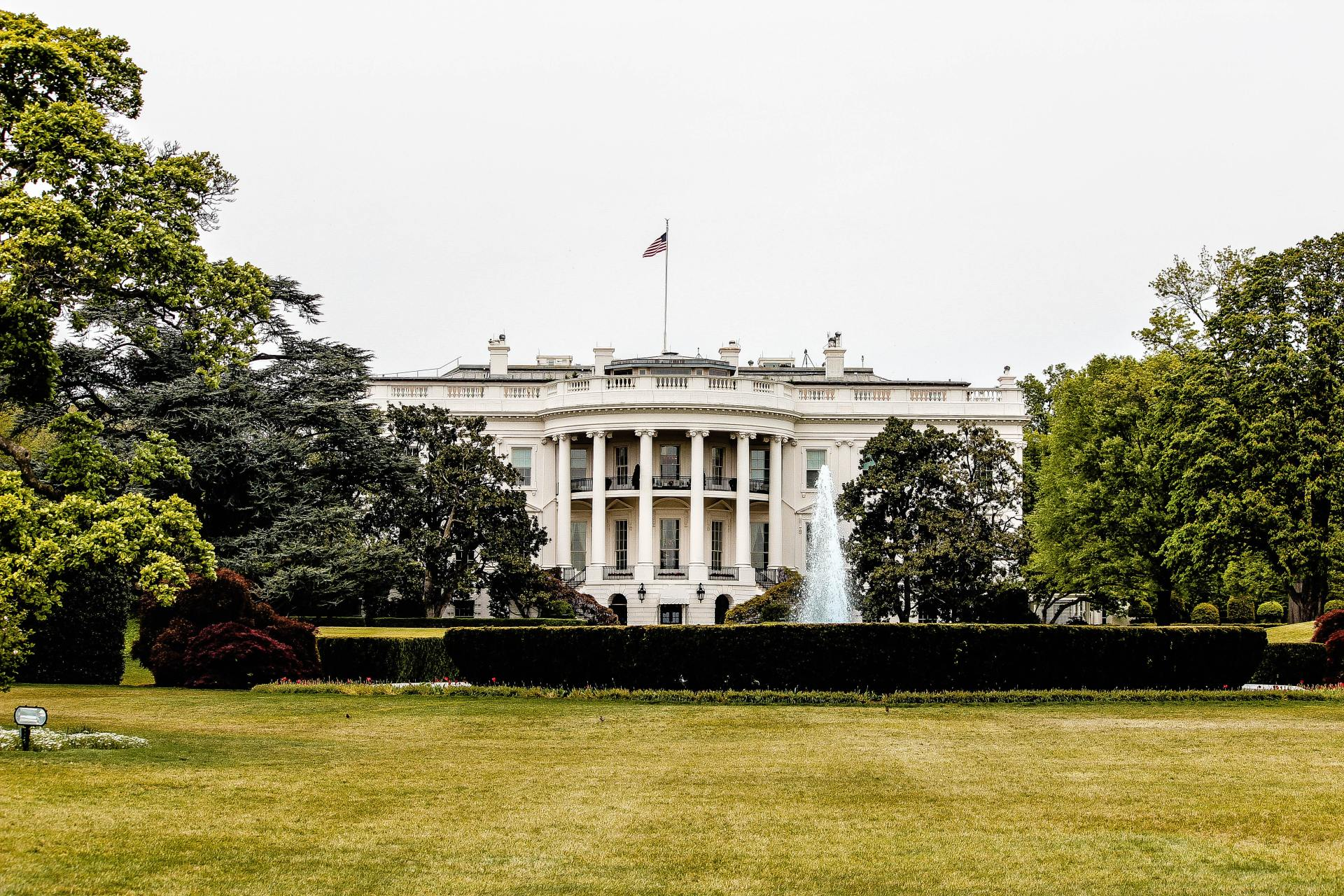 architectural photography of white house photo