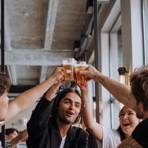 Group Of Young People Making A Toast