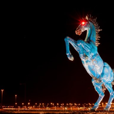 The Real Story Behind Denver Airport's Creepy 'Blucifer' Statue